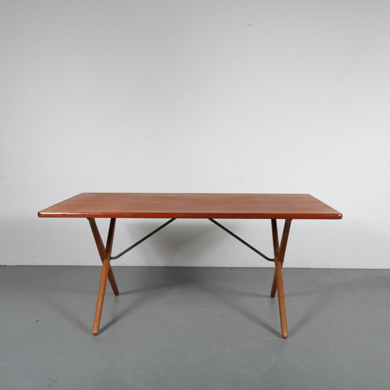 Dining Table by Hans J. Wegner for Andreas Tuck, Denmark, circa 1950 In Good Condition For Sale In Amsterdam, NL