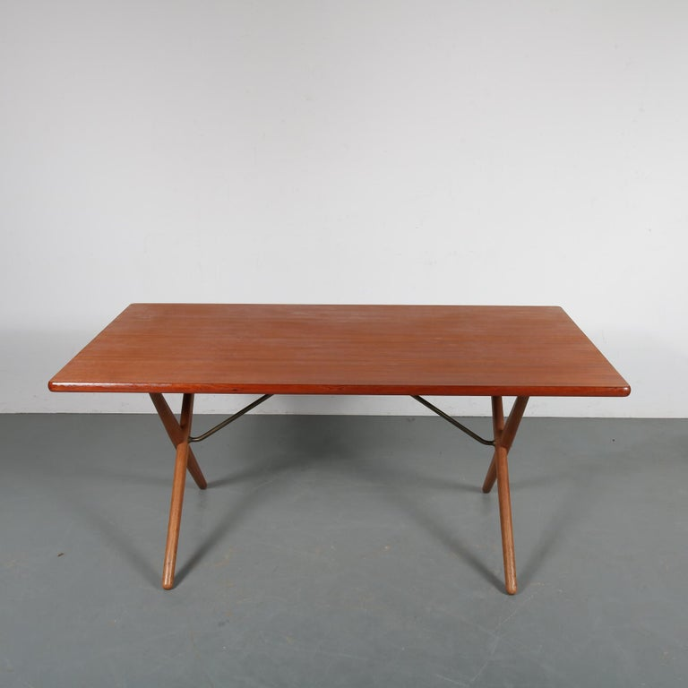 Mid-20th Century Dining Table by Hans J. Wegner for Andreas Tuck, Denmark, circa 1950 For Sale