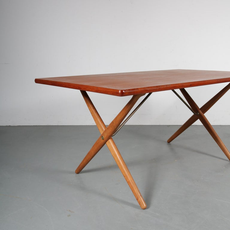 Brass Dining Table by Hans J. Wegner for Andreas Tuck, Denmark, circa 1950 For Sale