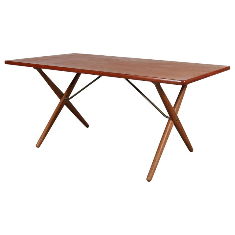 Dining Table by Hans J. Wegner for Andreas Tuck, Denmark, circa 1950 For Sale