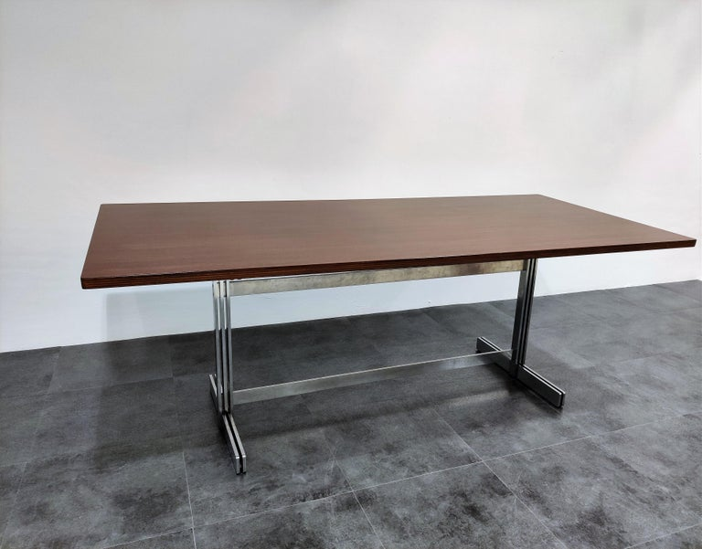 Dining Table by Jules Wabbes for Mobilier Universel, 1960s For Sale 4