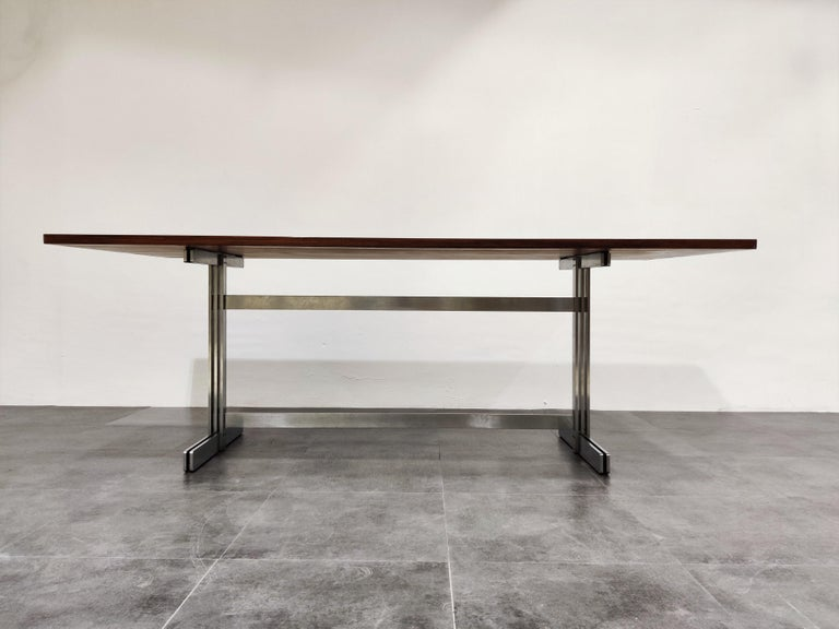 Post-Modern Dining Table by Jules Wabbes for Mobilier Universel, 1960s For Sale