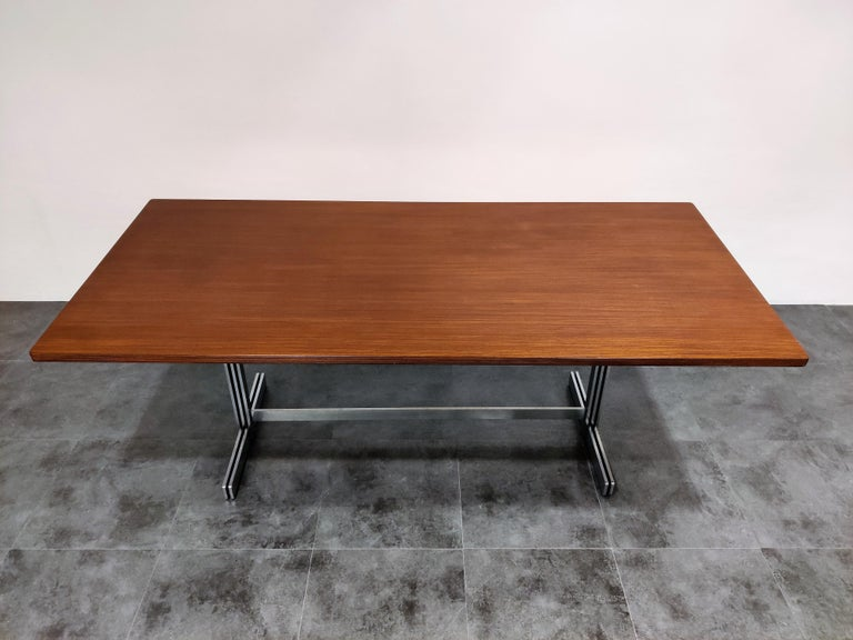 Belgian Dining Table by Jules Wabbes for Mobilier Universel, 1960s For Sale