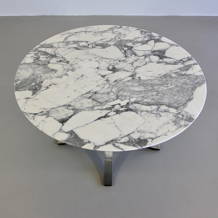 Modern Dining Table by Osvaldo Borsani & Eugenio Gerli with Marble Top, 1963-1964 For Sale