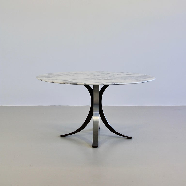 Dining Table by Osvaldo Borsani & Eugenio Gerli with Marble Top, 1963-1964 In Good Condition For Sale In Berlin, Berlin