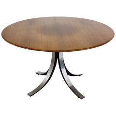 Dining Table by Osvaldo Borsani & Eugenio Gerli with Wooden Top, 1963-1964