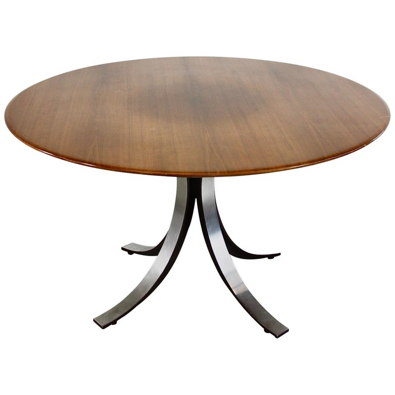 Dining Table by Osvaldo Borsani & Eugenio Gerli with Wooden Top, 1963-1964 For Sale