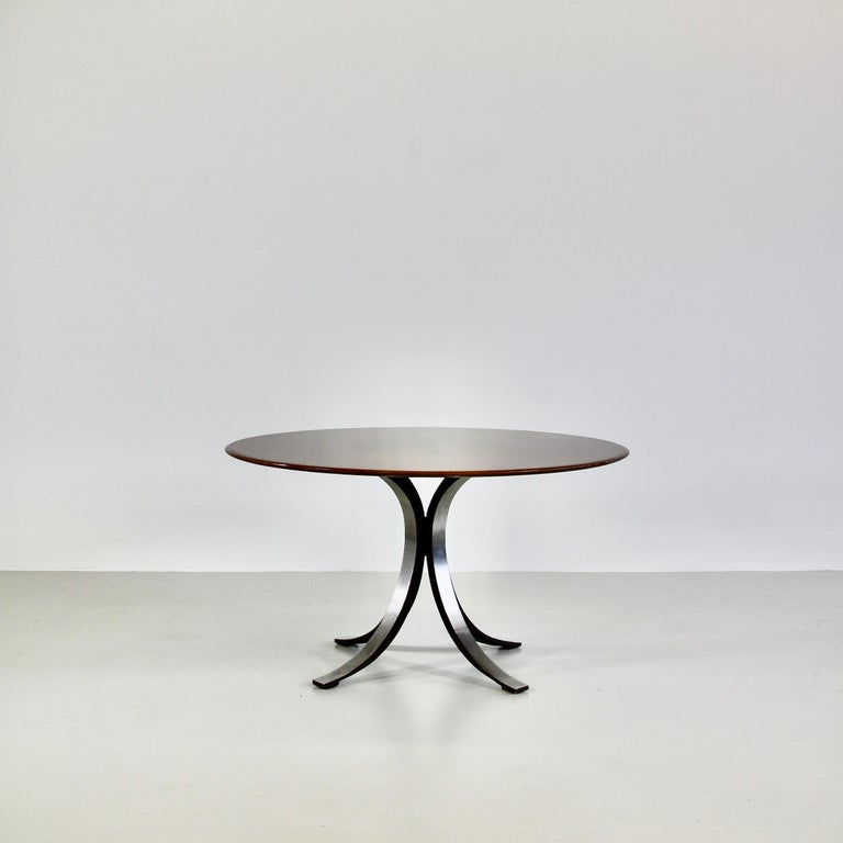 Modern Dining Table by Osvaldo Borsani & Eugenio Gerli with Wooden Top, 1963-1964 For Sale