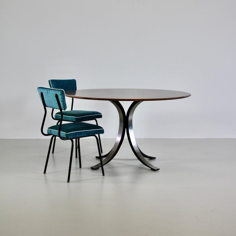 Dining Table by Osvaldo Borsani & Eugenio Gerli with Wooden Top, 1963-1964 In Good Condition For Sale In Berlin, Berlin