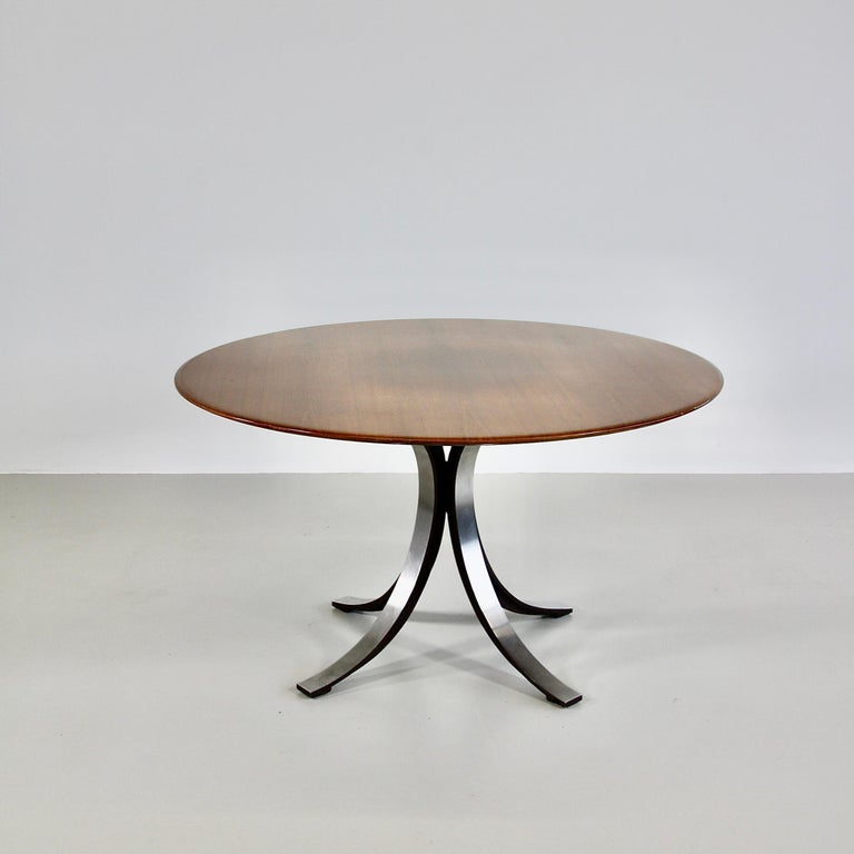 Mid-20th Century Dining Table by Osvaldo Borsani & Eugenio Gerli with Wooden Top, 1963-1964 For Sale