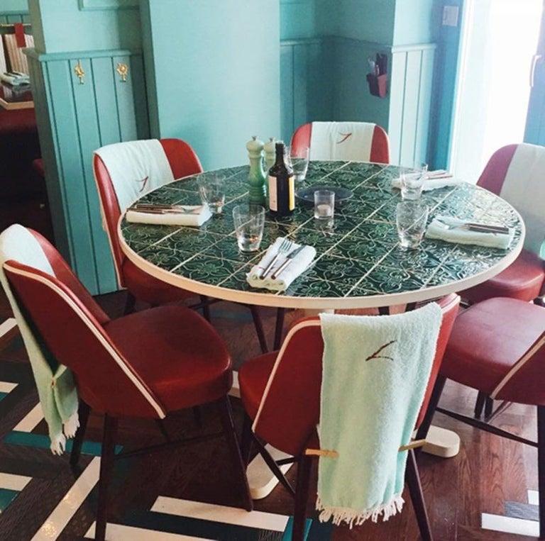 Dining Table Caldas 100Ø with Handmade Tiles 3