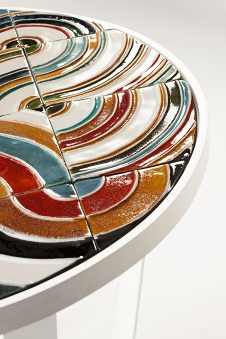 Dining Table Caldas 100Ø with Handmade Tiles 4