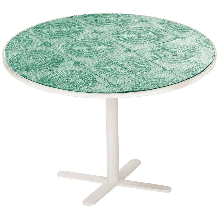 Dining Table Caldas 100Ø with Handmade Tiles 1