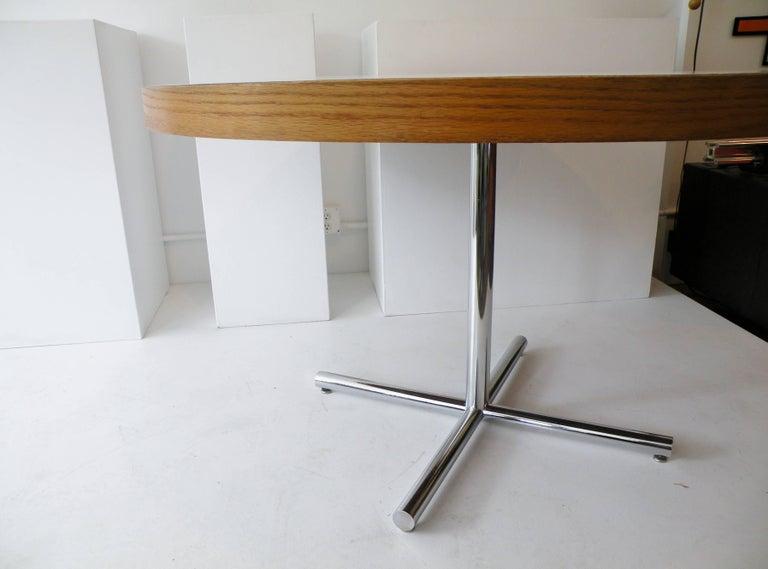 Dining Table Chrome Teak For Sale 4