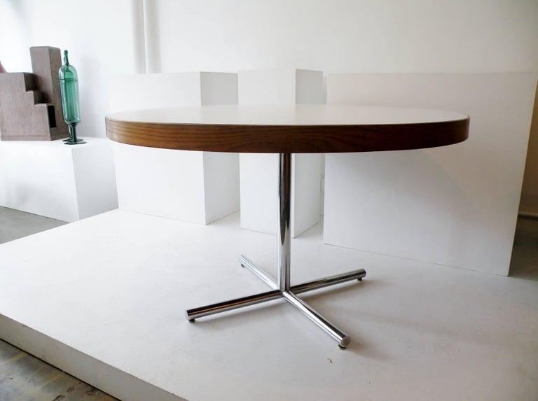 Dining Table Chrome Teak For Sale 5
