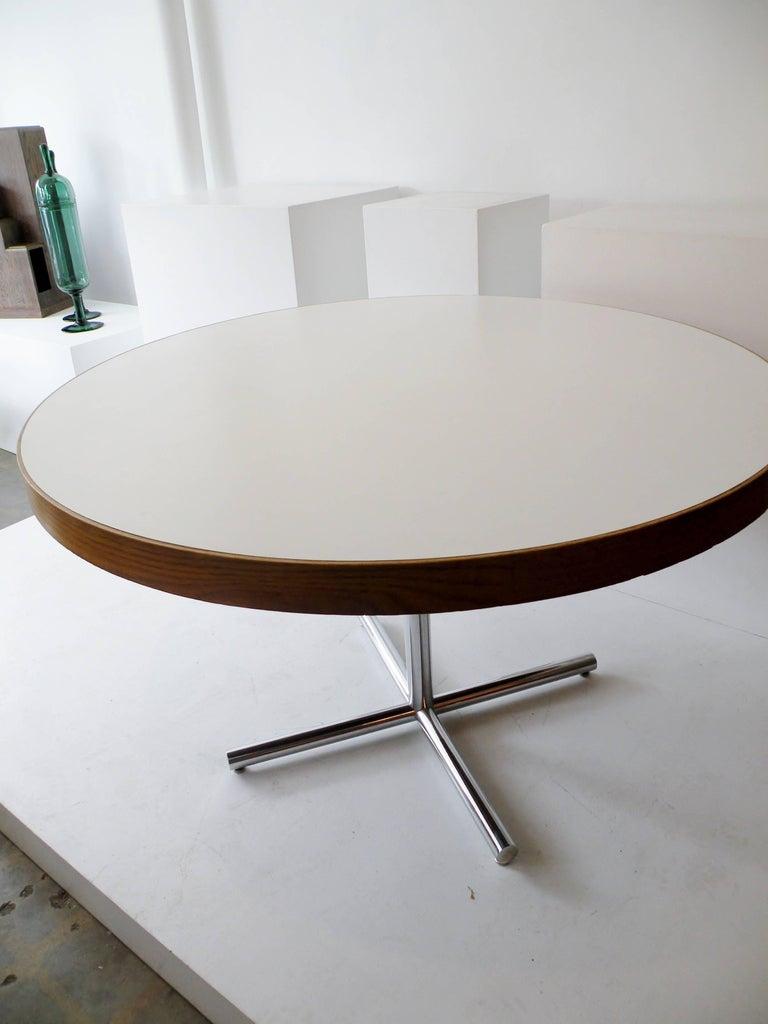 Dining Table Chrome Teak For Sale 6