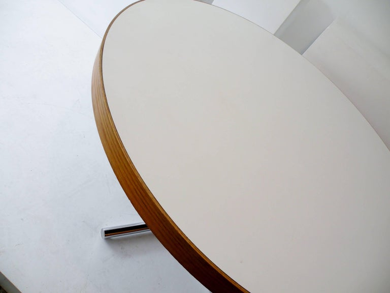 Dining Table Chrome Teak For Sale 7
