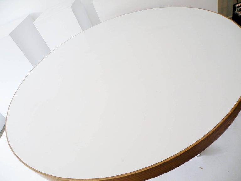 Dining Table Chrome Teak In Good Condition For Sale In Denver, CO