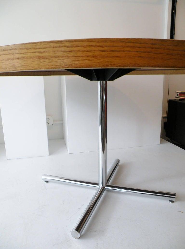 Dining Table Chrome Teak For Sale 3