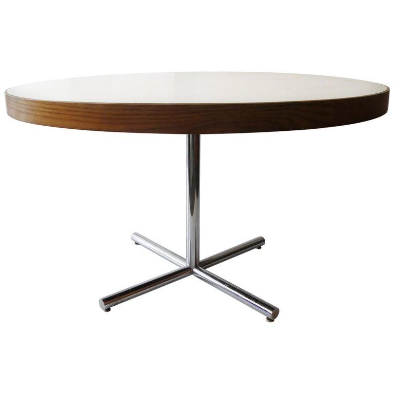 Dining Table Chrome Teak For Sale