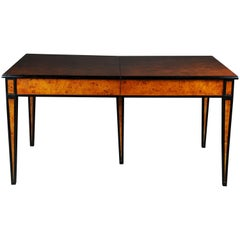 Dining Table / Conference Table, Extendable in Biedermeier Style, Maple