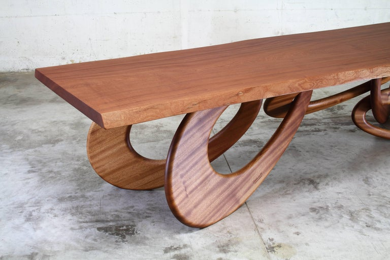 Dining Table Contemporary Design Rectangular Wood Italian In New Condition For Sale In Ancona, Marche