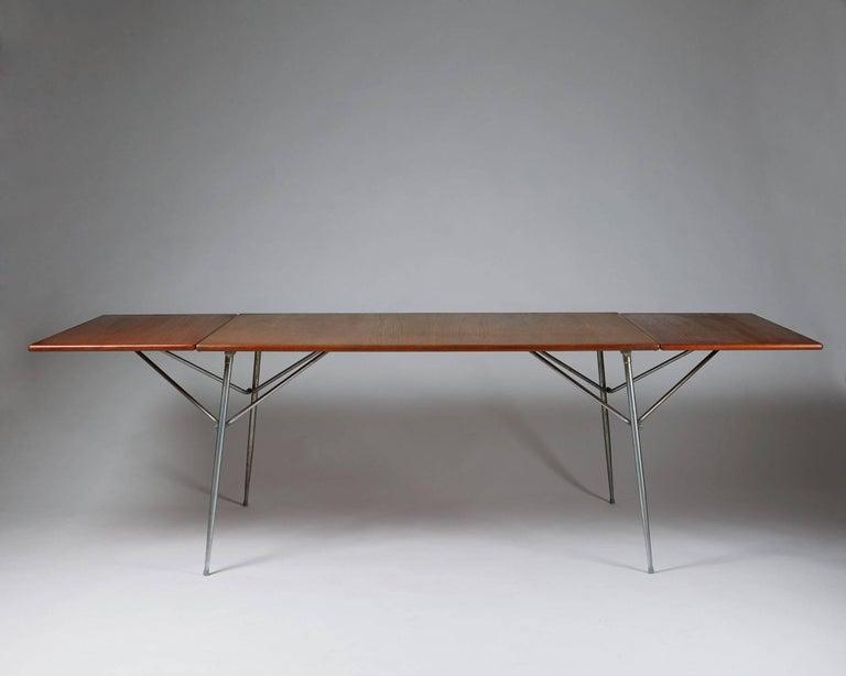 Scandinavian Modern Dining Table Designed by Børge Mogensen for Søborg, Denmark, 1952 For Sale