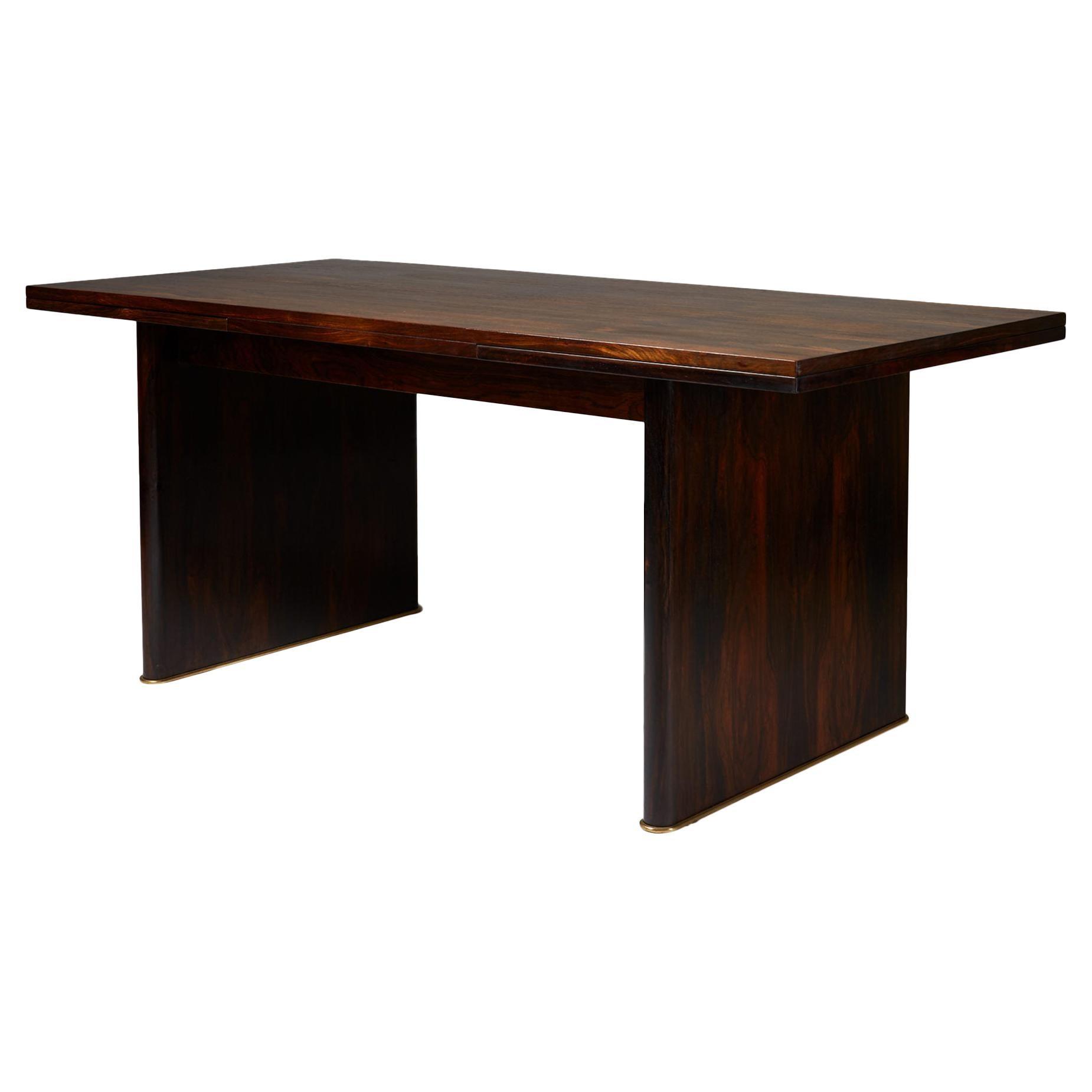 Dining Table Designed by Ernst Kühn for Lysberg, Hansen & Therp, Denmark, 1930s