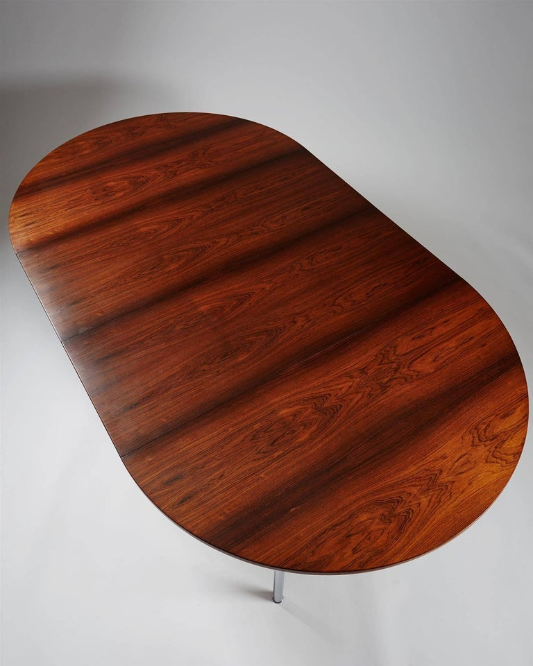 Brushed Dining Table Designed by Hans Wegner for Andreas Tuck, Denmark, 1961 For Sale