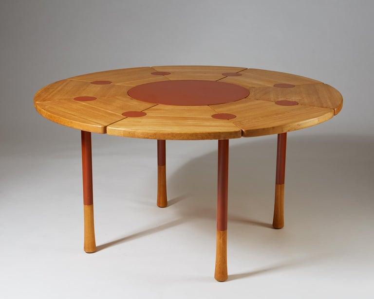Scandinavian Modern Dining Table Designed by Richard Nissen, Denmark For Sale