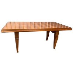Dining Table Desk in the Manner of Jules Leleu