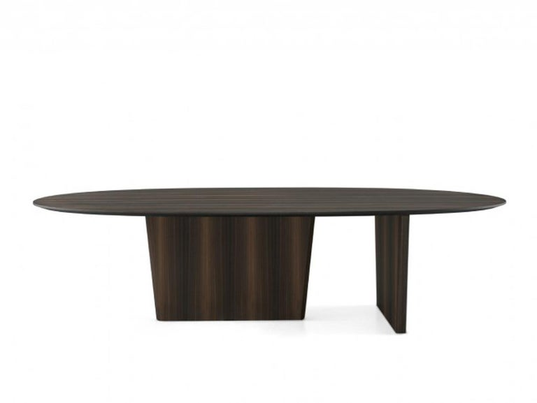 Dining Table, Dining Table Art Modern w.240 cm d.110 cm h.75 cm Smoked Eucalyptus Wood Veneer Production Time: 6 Weeks
