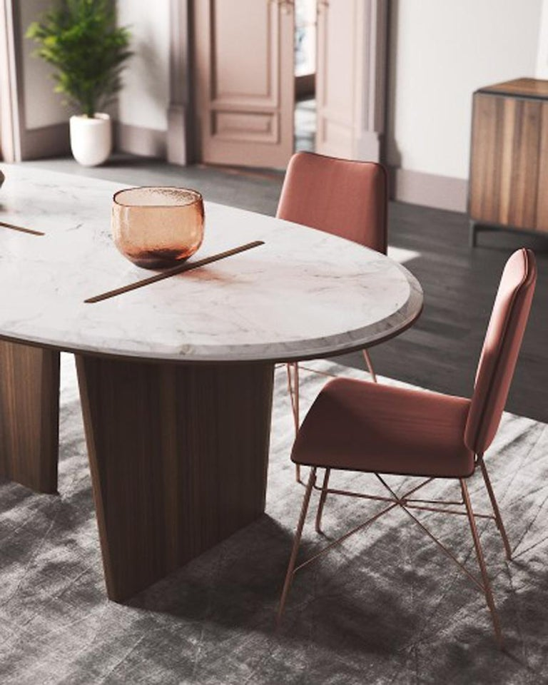 Contemporary Dining Table, Dining Table Art Modern  For Sale