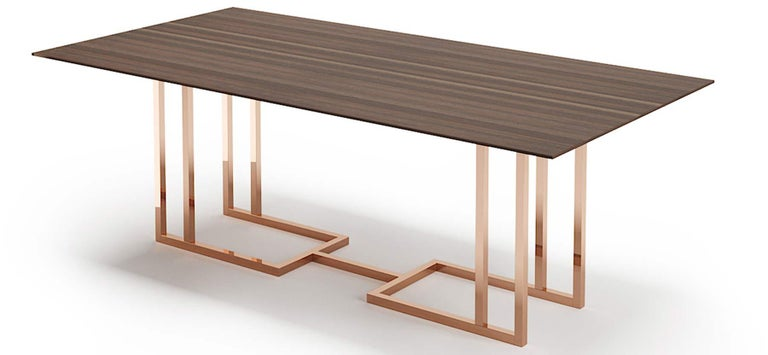 Brass Dining Table, Dining Table Art Modern For Sale