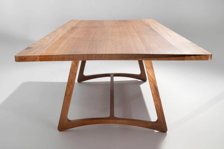 Dining Table in Hardwood, Brazilian Contemporary Design For Sale 4