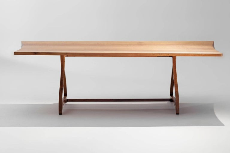 Hand-Crafted Dining Table in Hardwood, Brazilian Contemporary Design For Sale