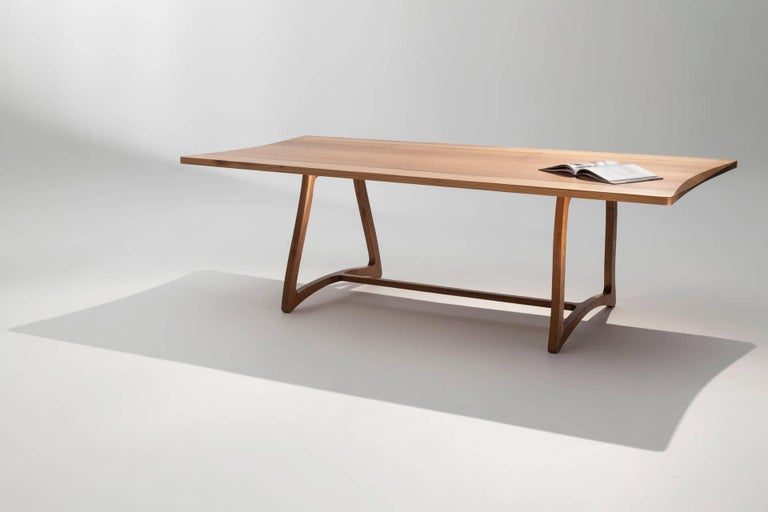 Dining Table in Hardwood, Brazilian Contemporary Design For Sale 1