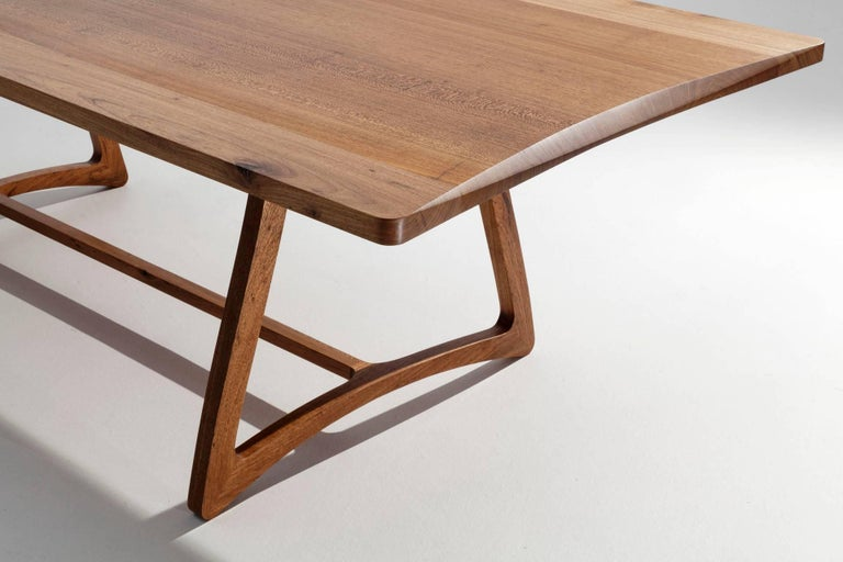 Dining Table in Hardwood, Brazilian Contemporary Design For Sale 2