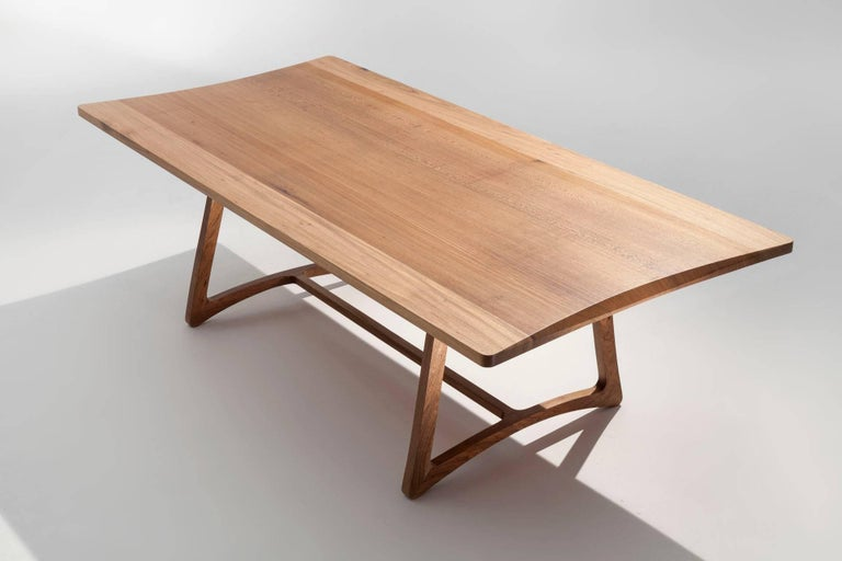 Dining Table in Hardwood, Brazilian Contemporary Design For Sale 3