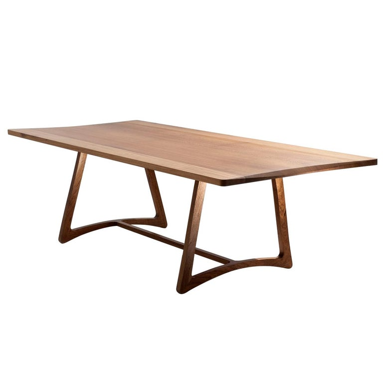 Dining Table in Hardwood, Brazilian Contemporary Design For Sale