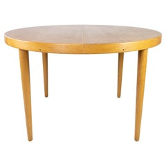 Dining Table in Light Wood with Two Extension Plates, by Omann Junior, 1960s