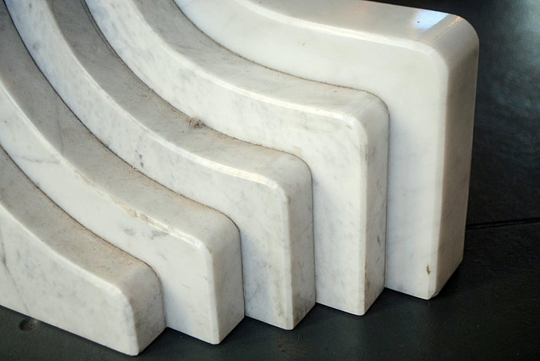 Italian Dining Table in Marble by Carlo Scarpa, Italy, 1970 For Sale