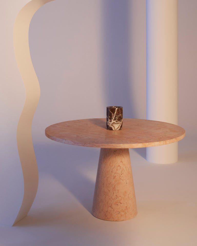 Dining Table in Marble, by Karen Chekerdjian, Made in Italy In New Condition For Sale In Milan, IT
