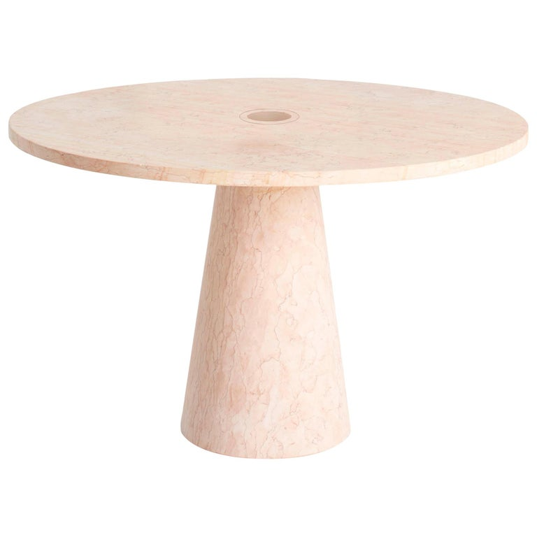 Dining Table in Marble, by Karen Chekerdjian, Made in Italy For Sale