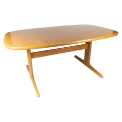 Dining Table in Oak of Danish Design Manufactured by Skovby Furniture Factory