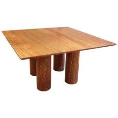 Dining Table in Red Travertine 'Il Collonato' by Mario Bellini, Italy, 1970s