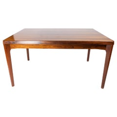 Dining Table in Rosewood with Extensions Designed by Henning Kjærnulf, 1960s