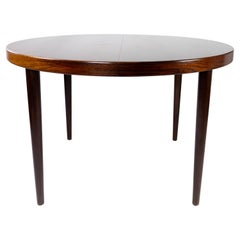 Dining Table in Rosewood with Two Extension Plates, by Omann Junior, 1960s