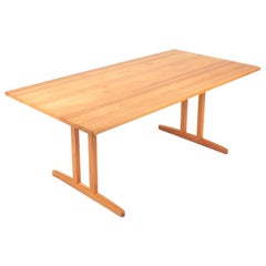 Dining Table in Solid Scandinavian Pine by Søborg Furniture, 1960s