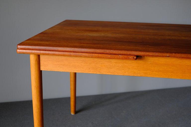 Danish Dining Table in Teak by Hans Wegner For Sale